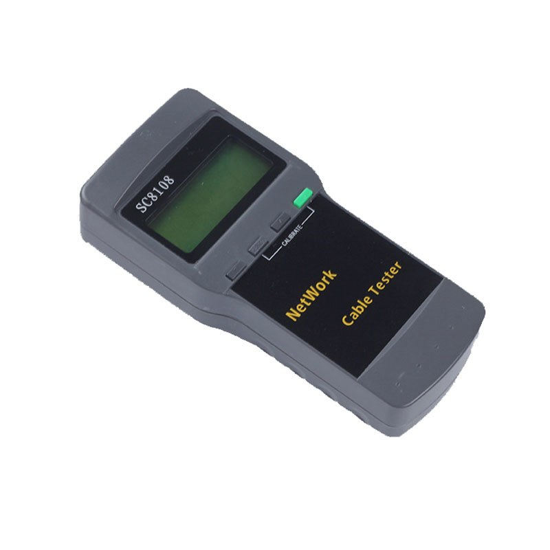 Portable Multifunction Wireless Network Tester SC8108 LCD Digital PC Data Network CAT5 RJ45 LAN Phone Cable Tester Meter - ebowsos