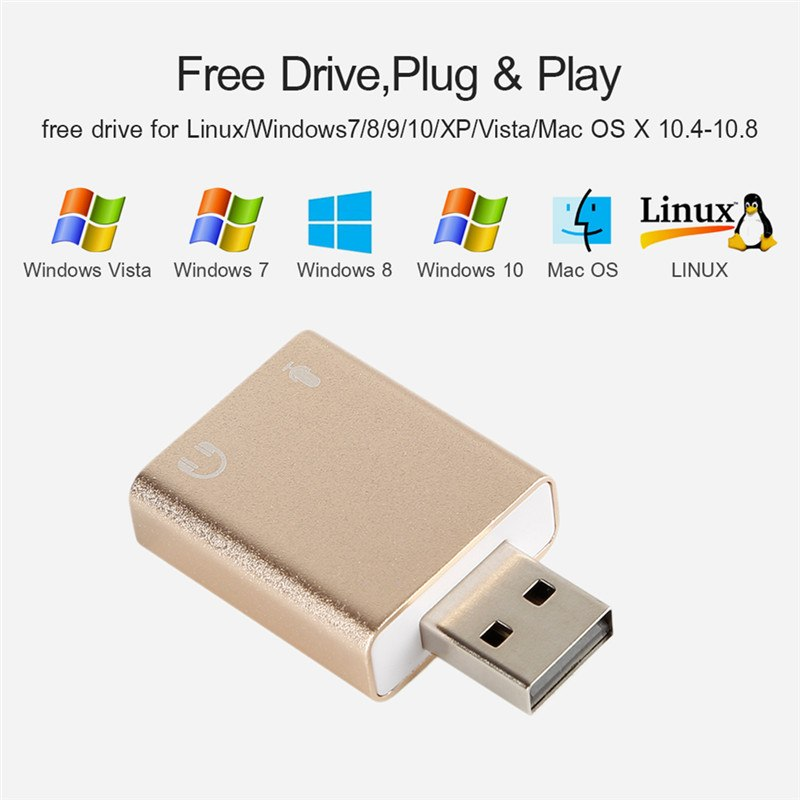 New External Sound Card 7 1 usb audio Adapter card With USB To Jack 3 5mm  Converter For Laptop Computer Headphone Sound Card