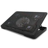 "Laptop Cooler Pad 14"" 15.6"" 17"" With 5 Fans 2 USB Port Slide-proof Stand Cooler Notebook Cooling Fan With LED Light - ebowsos"