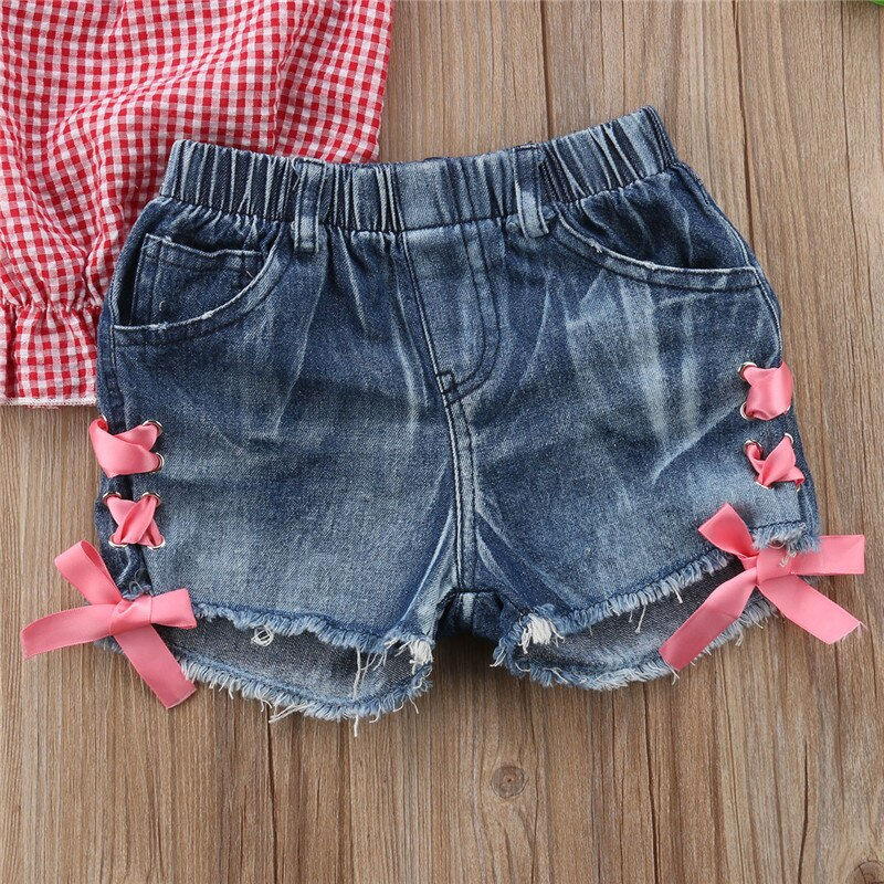 Girls New Embroidery Denim Shorts Kids Summer Jeans 100/% Cotton Age 2 T0 4 YEARS