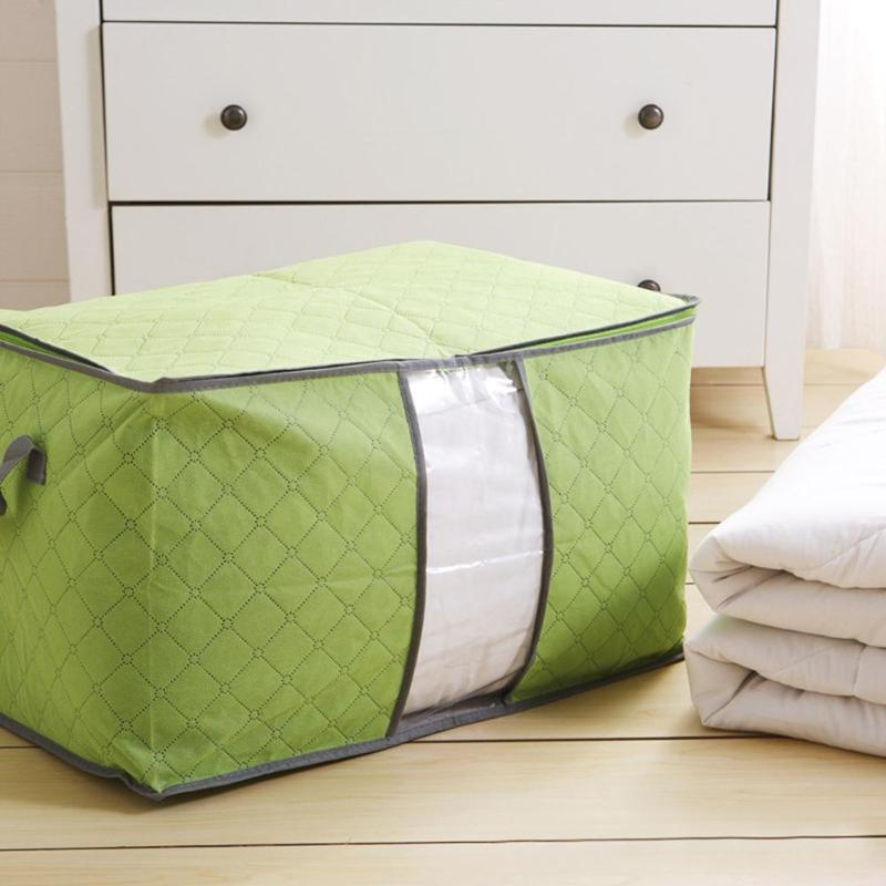 Large Storage Bag Box for Clothes Quilt Duvet Laundry Pillows - ebowsos
