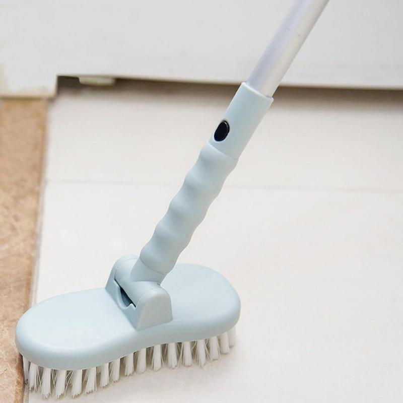 Long Handle Retractable Cleaning Brush Fashionable Atmosphere Wide Scope of Application Kitchen Ceramic Tile Floor Bristle Brush - ebowsos