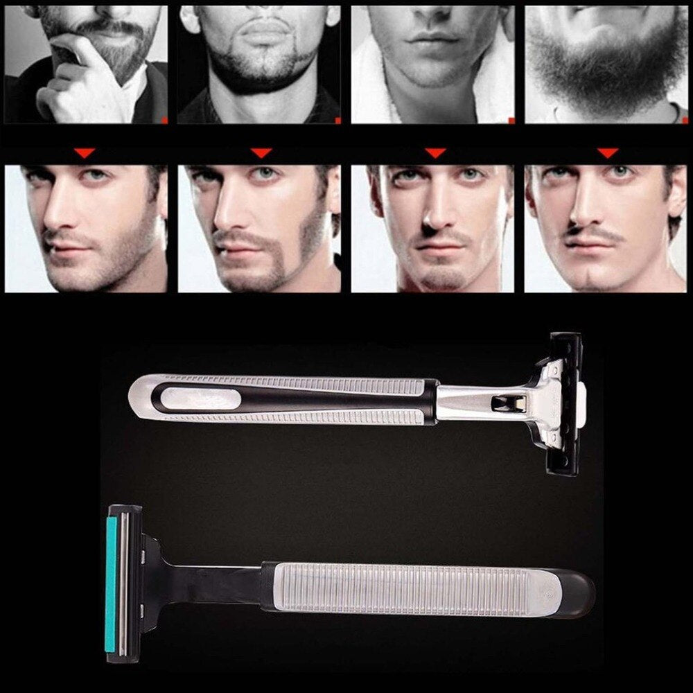 Men's Razor Manual Shaving Razor 1 Handle 1 Blade Men's Beard Knife Razor Tool Men's Shaving Razor Tool - ebowsos