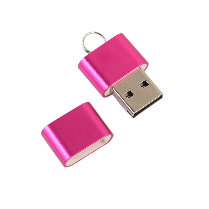 Mini Card Reader High Speed 480 Mbps Aluminium Alloy USB 2.0 T Flash TF Micro SD Memory Card Reader Adapter for PC Tablet - ebowsos