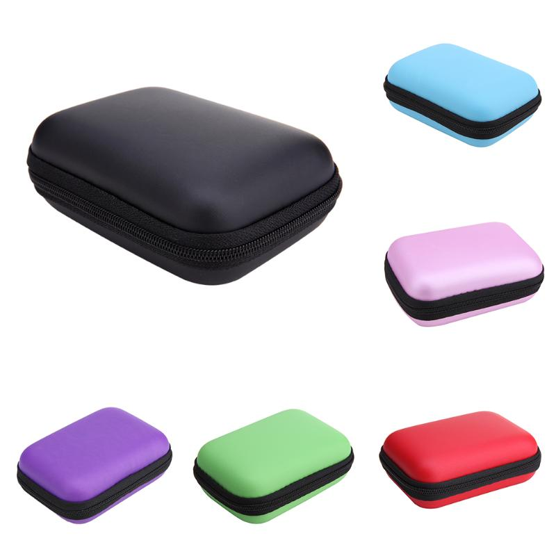 Mini External Storage Hard Case Bags Headset Earphone Cable Carry Storage Box for Phone USB Cable Charger Power Bank Case New - ebowsos