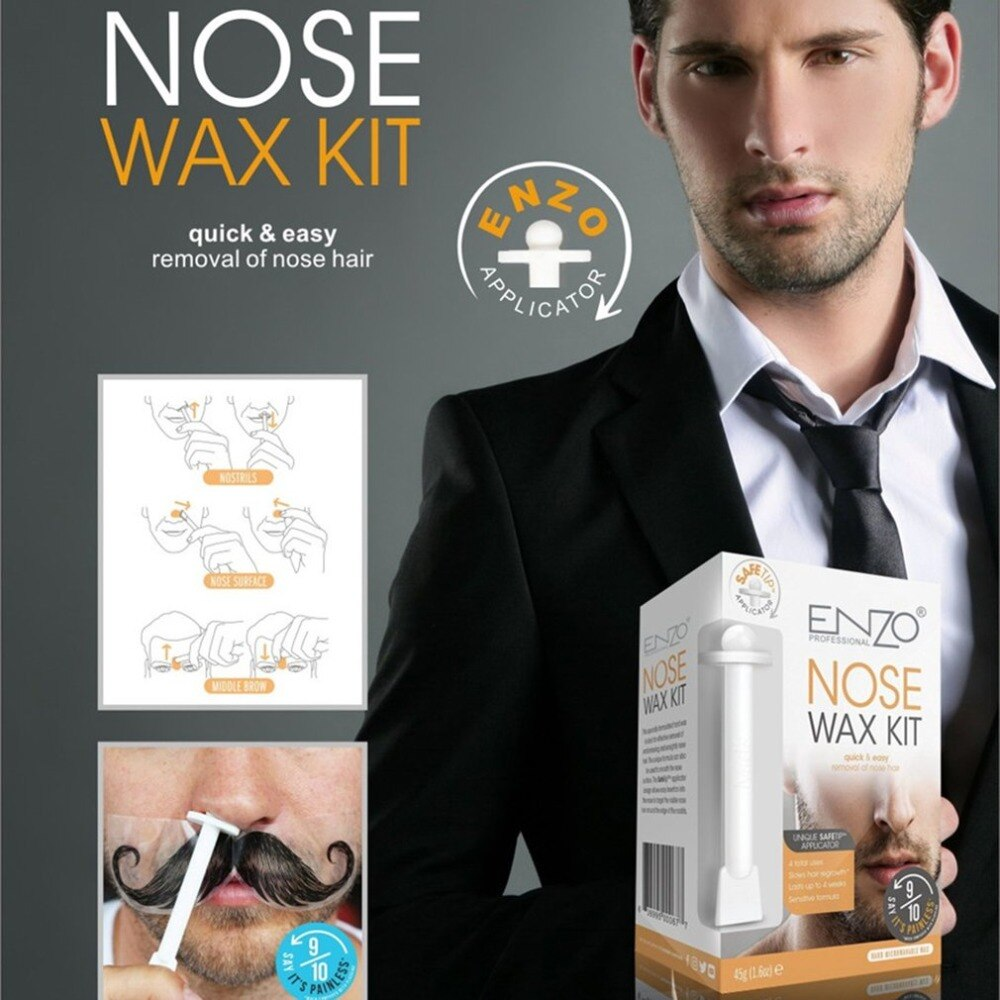 Mini Men's Wax Kit Nose Hair Removal Waxer Kit waxing for Men Nose Hair Removal Cosmetic Tool nose hair trimmer - ebowsos