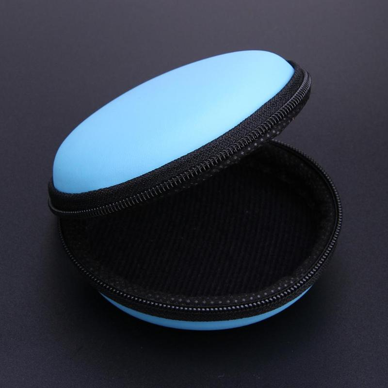 Mini Round EVA Case Headset Bluetooth Earphone Cable Storage Box Container Cable Earbuds Pouch Bag Holder 80 X 80 X 30 mm New - ebowsos