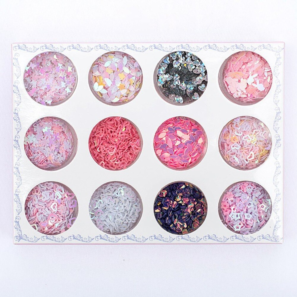 Multi-Colors Nail Art Glitter Masquerade Powder for Face Eyes Makeup Eye Shadow Nail Sticker Powder Sequins for Women Girls - ebowsos