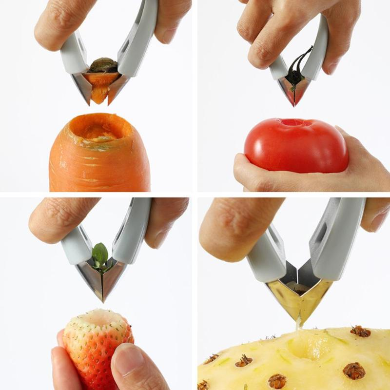 Multi-function Fruit Vegetable Eye Digger Stainless Steel Creative Pineapple Cutter Fruit Core Remover Kitchen Tools Dropship - ebowsos
