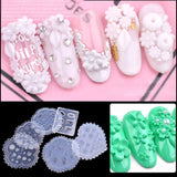 Nail Art Decoration Tools Nail Silicone Mould Popular Relief Abrasives Flowers Daisy Carved Soft Film - ebowsos