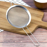 New Arrival Silver Color Stainless Steel Fine Mesh Wire Oil Skimmer Strainer Flour Colander Kitchen Cooking Spoon - ebowsos