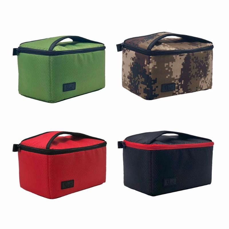 Color : Green Partition Padded Insert Camera Bag Protection Shockproof Canvas Inner Case Pouch for DSLR Digital Camera Colorful Camera Bag