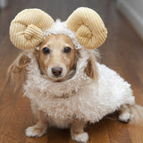 Pet Costume Set Cotton Lovely Goat Shape Dog Apparel Pet Apparel Cat Dog Party Dress Up Pet Supplies-ebowsos