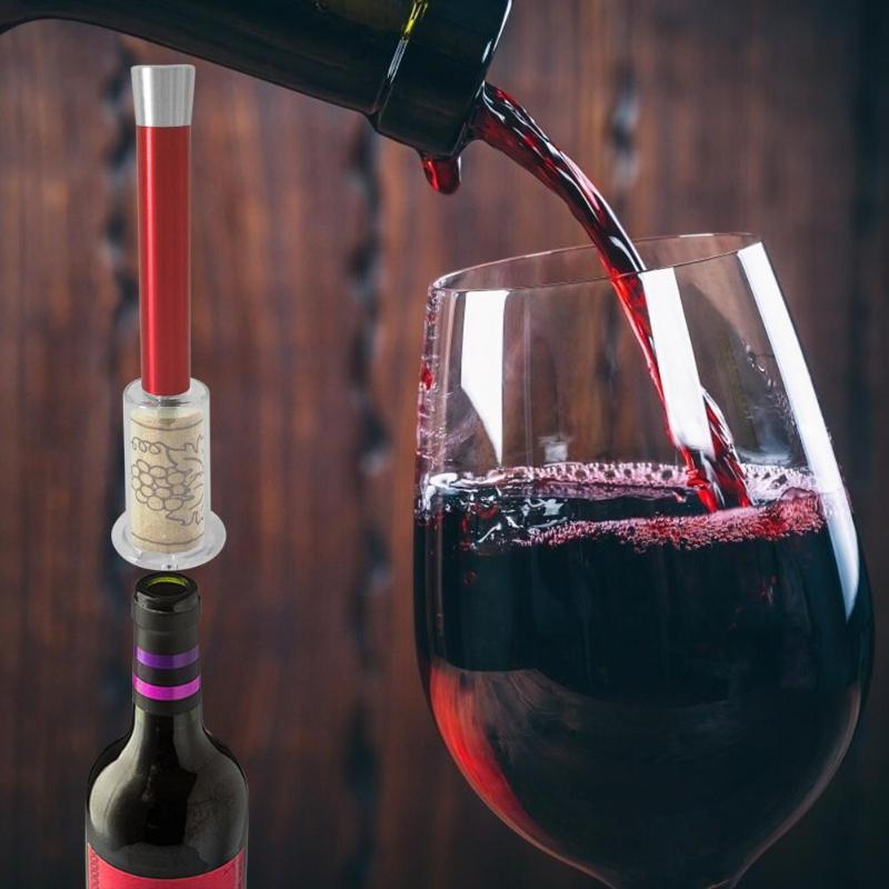 Pneumatic Red Wine Bottle Opener Air Pressure Pumps Cork Manual Corkscrew Pneumatic Bottle Opener for Red Wine Festival - ebowsos