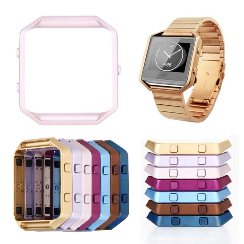 Polished Stainless Steel Smartwatch Frame Replacement Repair Frames Holder  Protector Shell with Button Key for Fitbit Blaze