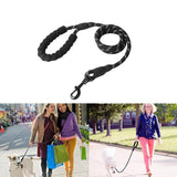 Reflective Pet Leash Nylon Rope Running Tracking Leash Long Lead for Large Dog Night Safety Reflections Running or Training - ebowsos