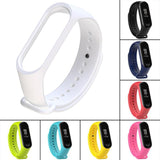 Replace Strap Silicone 220mm Wriststrap Band Colorful for Xiaomi Miband 3 Watch Wristband for Xiaomi 3 Smart Bracelet Wriststrap - ebowsos
