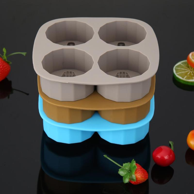 Silicone Ice Cube Maker Tray Mold DIY Alligator Pattern Bar Drink Ice Mould - ebowsos