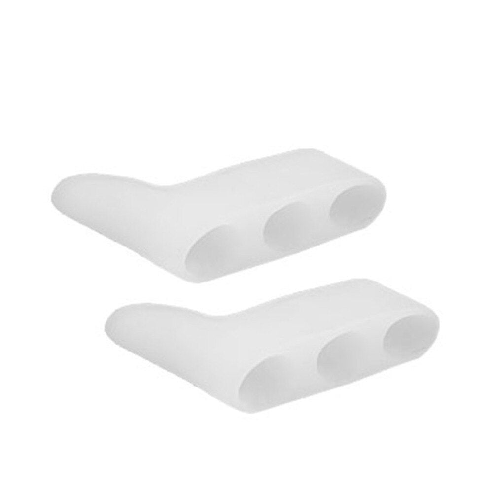 Silicone Toe Separator Foot Braces Support 3 Holes Little Toe Varus Corretcor for Overlapping Toe Foot Care for Men Women - ebowsos