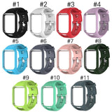 Silicone Watchband Frame Replacement Smart Watch Strap for TomTom Adventurer/Runner 2/Golfer 2/Spark/Spark 3 - ebowsos