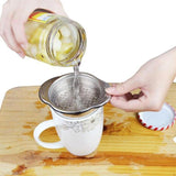 Stainless Steel Food Can Strainer Household Sieve Tuna Press Lid Oil Drainer Remover Easy To Use Kitchen Accessaries Home Gadget - ebowsos