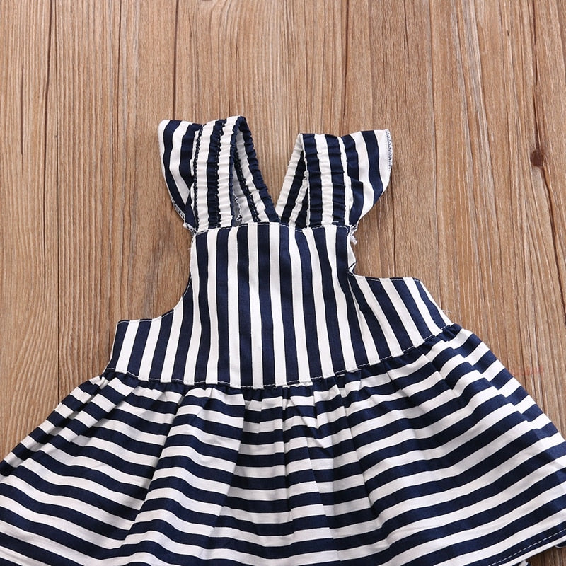 371a75bf5c20d Stripe Cute Dresses For Girls Baby Girls Clothes Sets Summer Sunsuit Infant  Outfit Stripe Backless Dress
