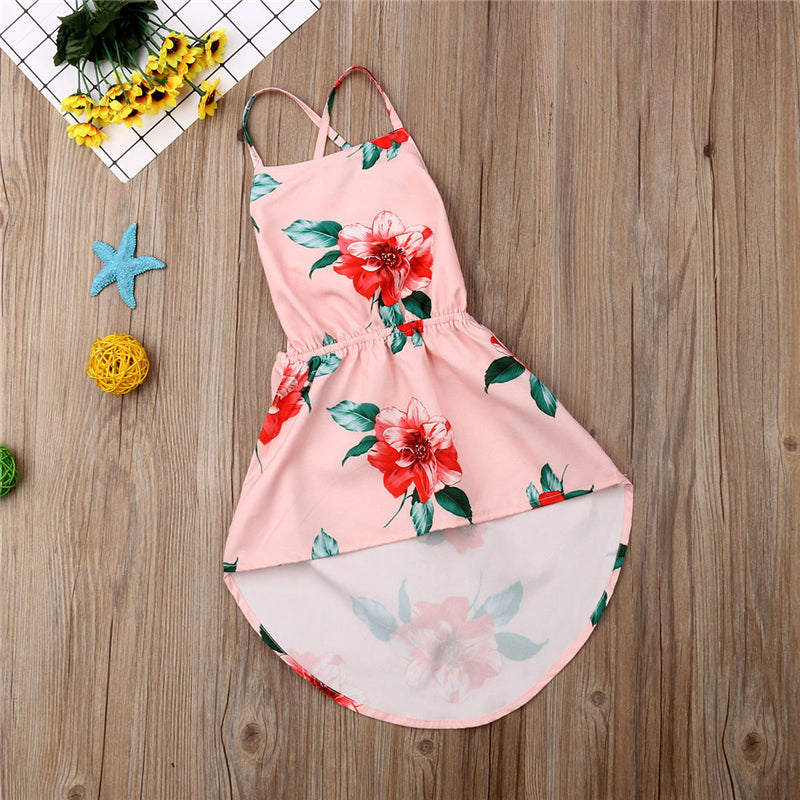 Kid Baby Girl Summer Dress Sunflower Backless Party Pageant Dress Casual Clothes