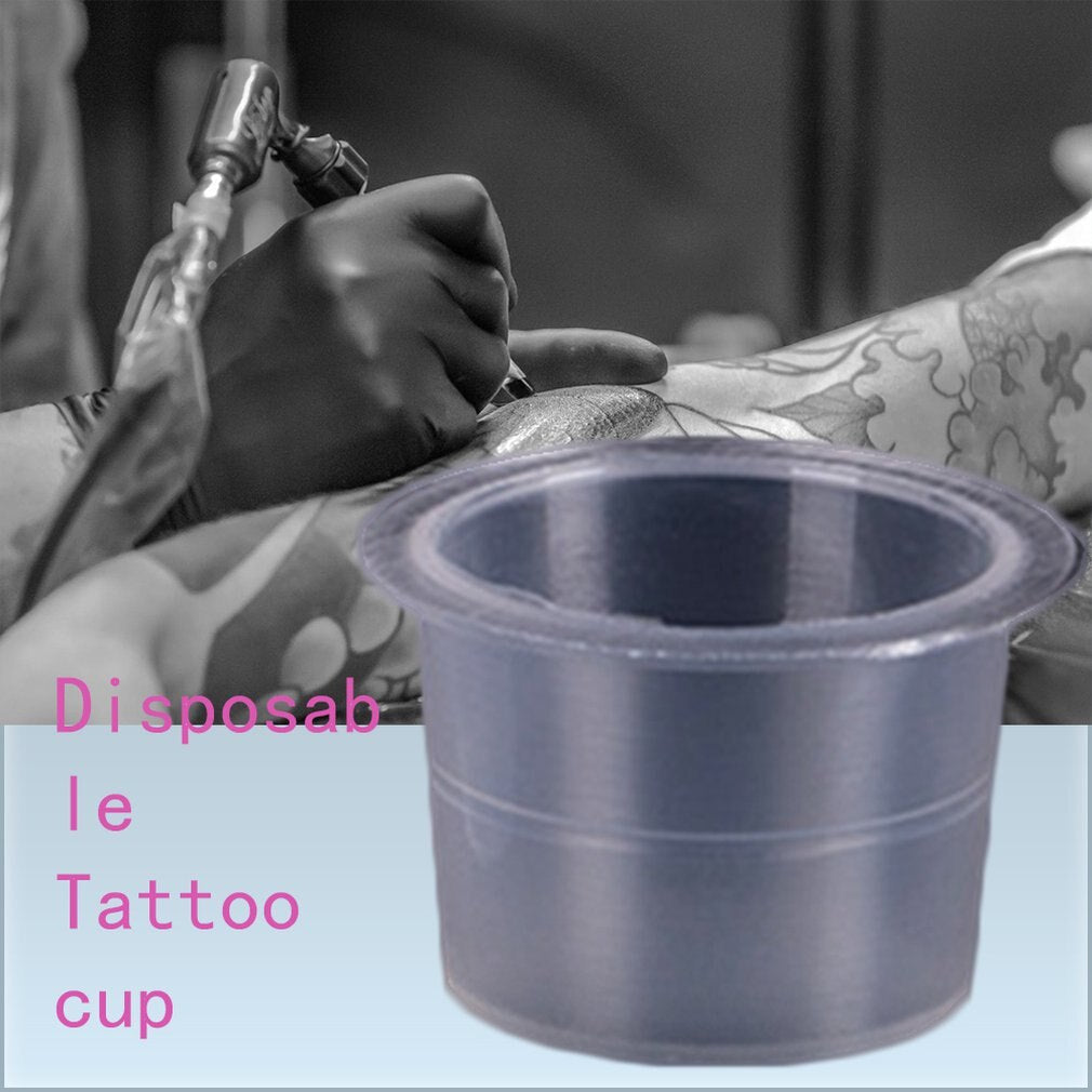 Tattoo Tattoo Color Cup Large Medium And Small Disposable Tattoo Color Cup Semi-permanent Auxiliary Supplies Wholesale - ebowsos