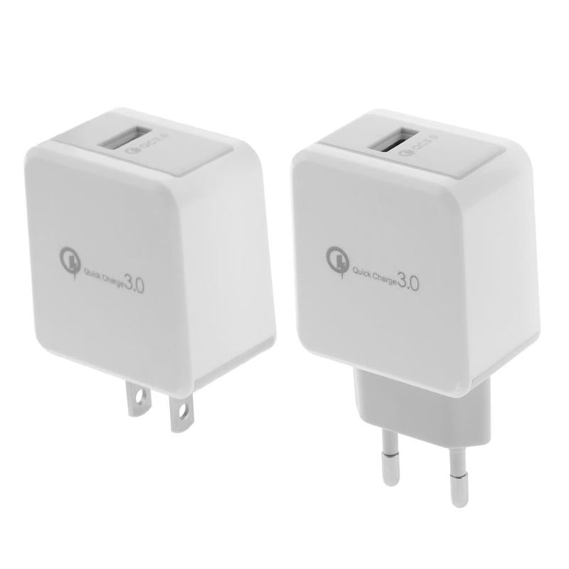 Universal QC3 0 Single USB Charger 5V 9V 12V Quick Charge Fast Adapter Wall  Mobile Phone Charger High Quality Phone Charger New