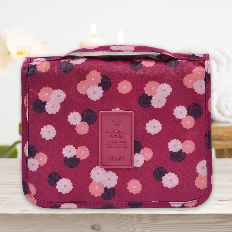 Waterproof Portable Cosmetic Storage Bag Safety and Reliability Multi-lattice Practical Economy Neutral Bathroom Wash Bag - ebowsos