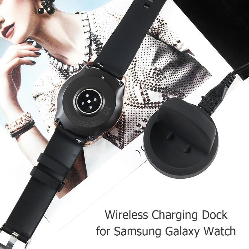 Wireless Charging Dock Cradle Charger for Samsung Galaxy Watch 42mm 46mm SM-R800 R805 R810 R815 High Quality Charging Dock New - ebowsos