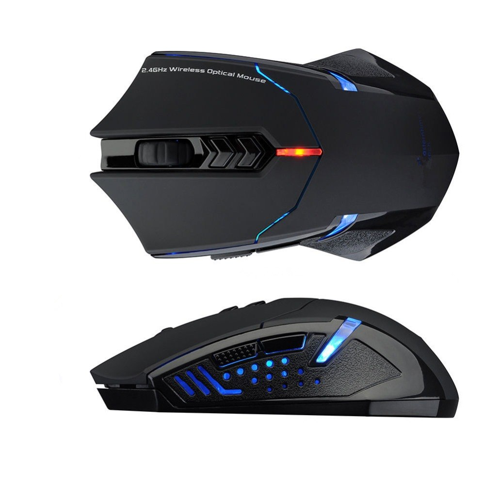 Wireless Mouse 2400 DPI Adjustable 2 4G Professional Gaming Mouse 7 Buttons  Scroll Wheel LED Mice For PC Computer Laptop