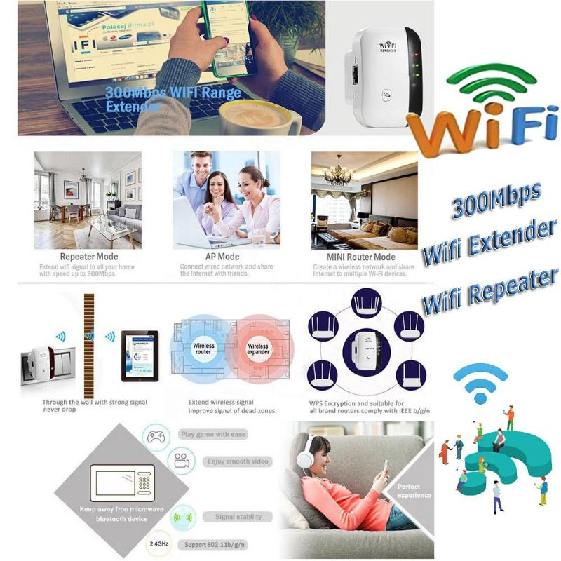Wireless Wifi Repeater 300mbps Wifi Extender Long Range Repeater Wi Fi Access Point 802 11n B G Wifi Signal Amplifier Booster Sale Ebowsos
