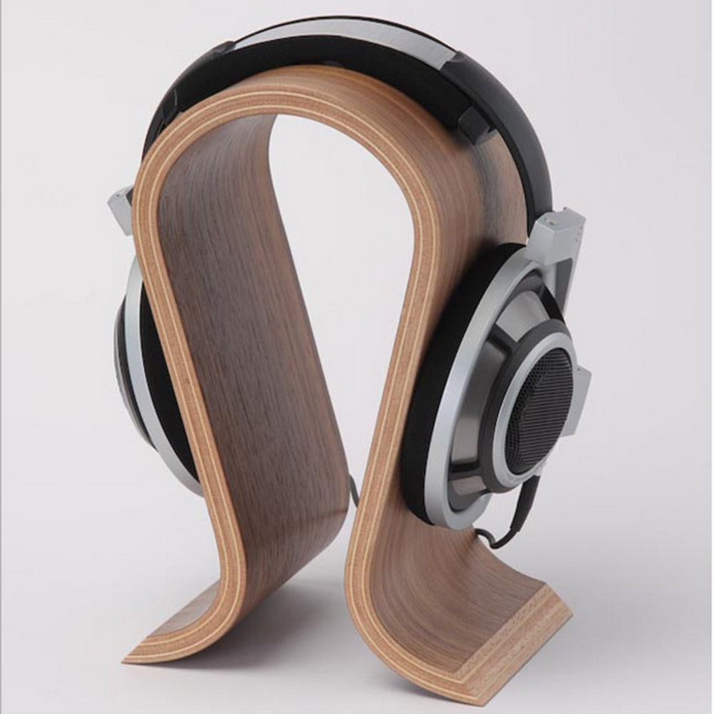 Wooden Headphones Stand Headset Holder Display Racks Hanger Shelf Bracket Earphone Accessories Headphone Stand Holder - ebowsos