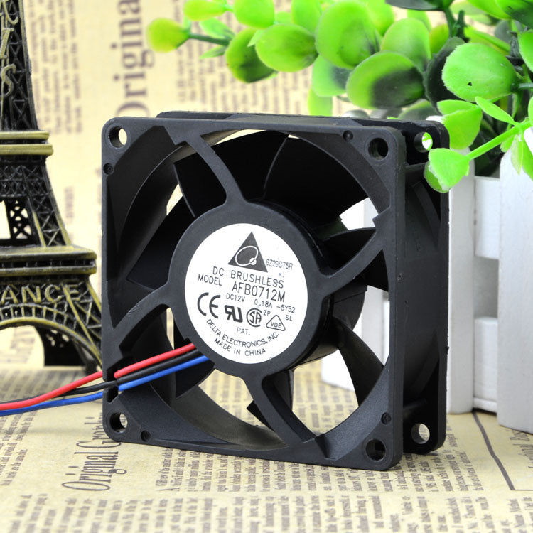 For original Delta 7025 12V 0.18A 3-wire CPU cooling fan AFB0712M supports speed measurement - ebowsos