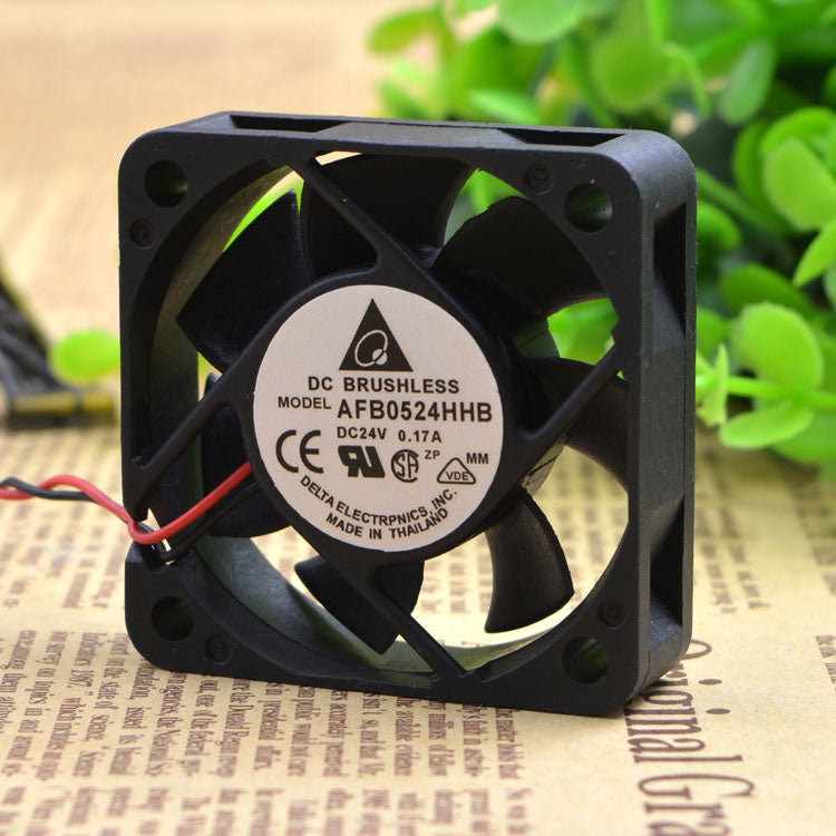 For Delta AFB0524HHB 5015 24V 0.17A 5CM Large air volume Double ball Inverter fan - ebowsos