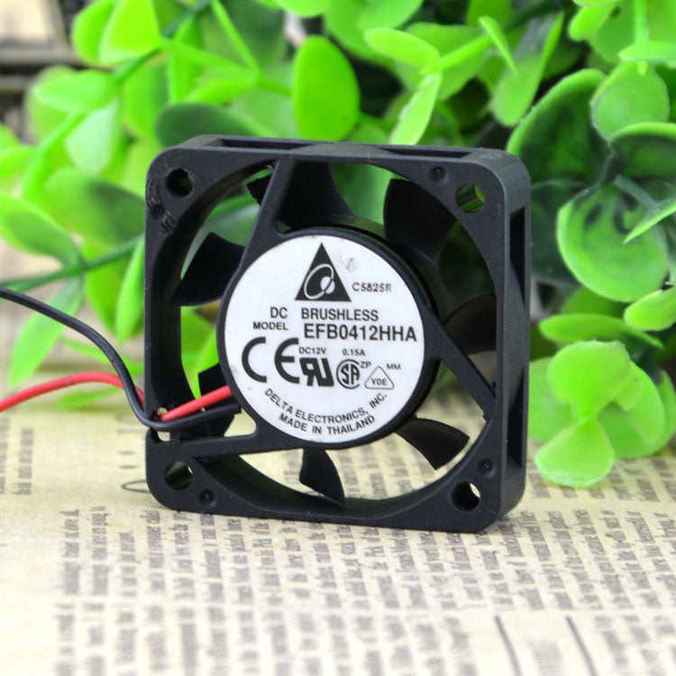 For original Delta EFB0412HHA 4cm 4010 12V 0.15A cpu chassis mute cooling fan - ebowsos