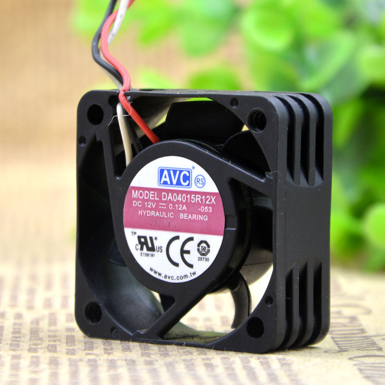For AVC 4015 DA04015R12X 12V 0.12A three-pin speed measuring fan Small chassis CPU fan - ebowsos