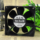 For Sanyo San Ace80 DC Fan 109R0812G404 Voltage 12V 0.37A - ebowsos