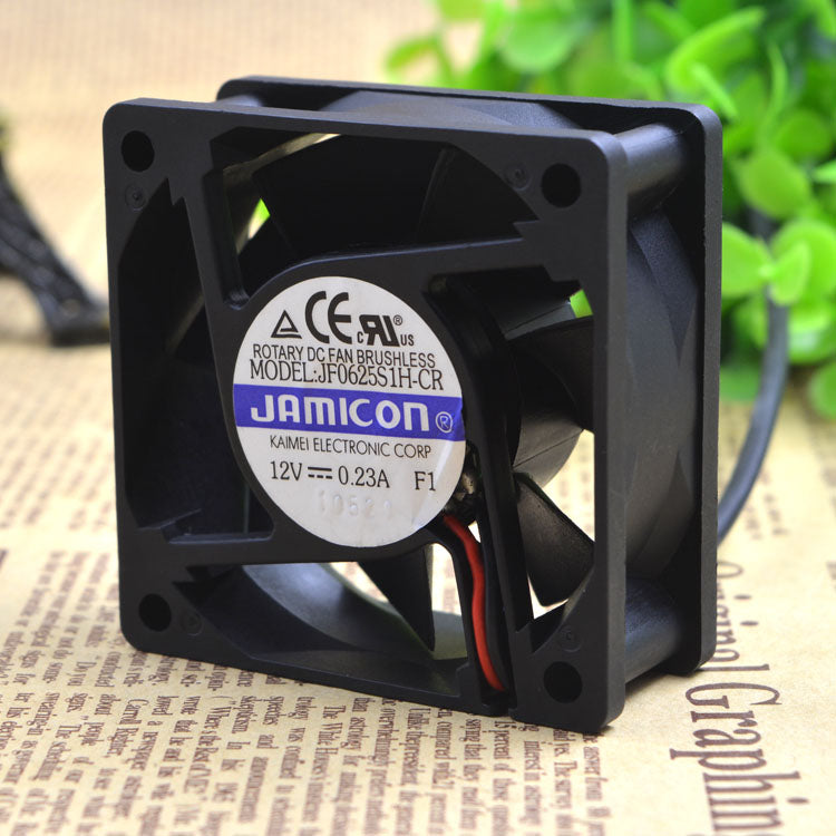 For Taiwan jamicon 12V 0.23A JF0625S1H-CR 6025 6CM inverter silent fan - ebowsos