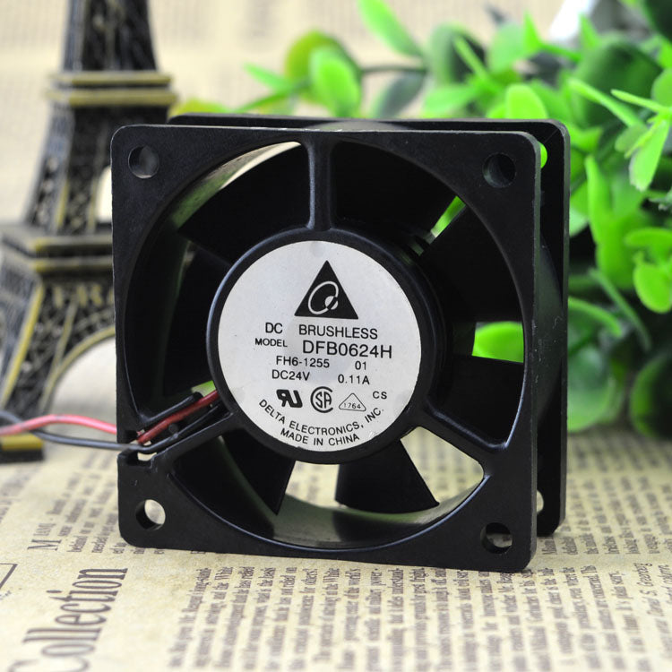 For original DELTA Delta DFB0624H 24V 0.11A 6CM 6025 2-wire inverter Fan - ebowsos