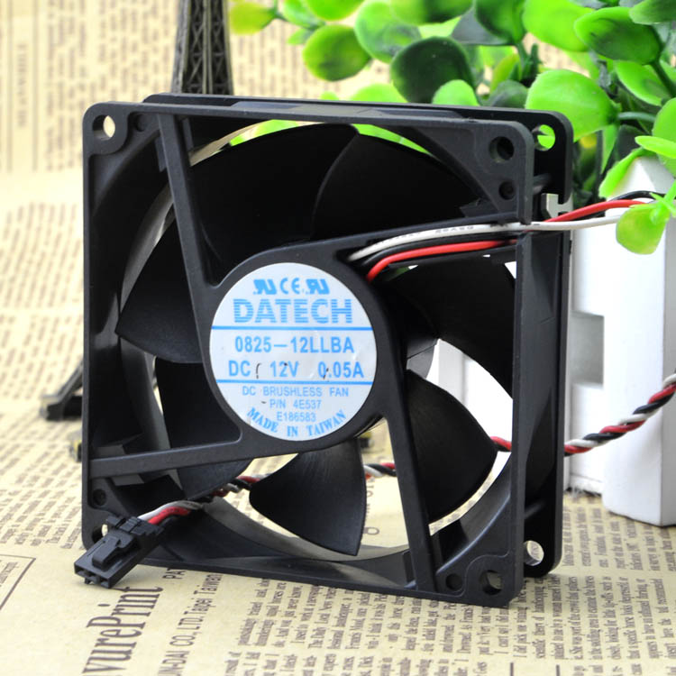 For original DATECH 0825-12LLBA 12V 0.05A 8CM 8025 DELL Dell chassis fan - ebowsos