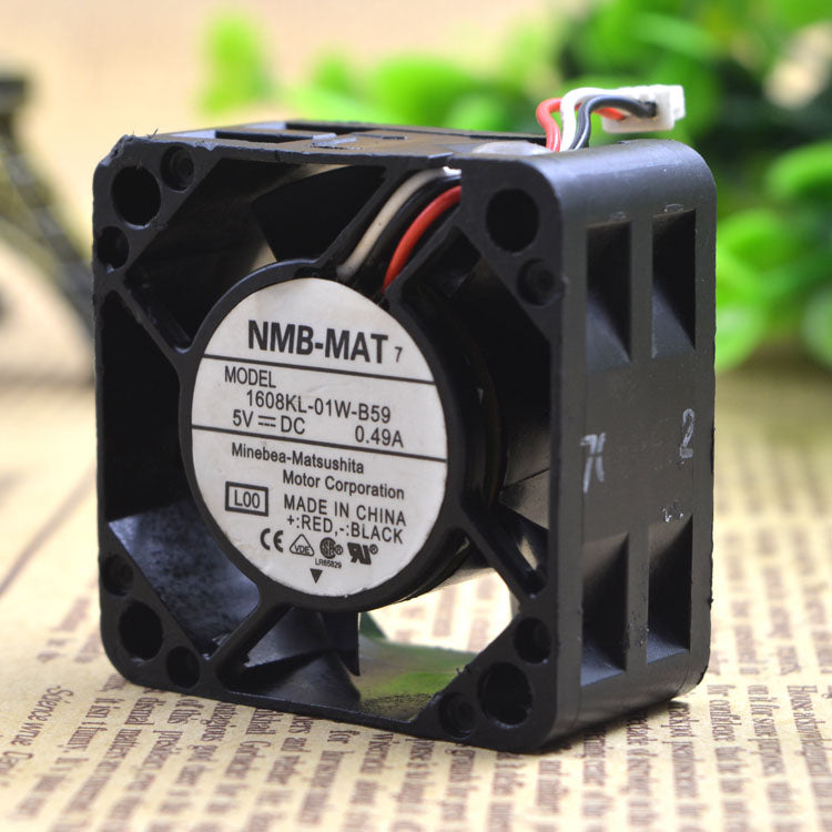 For NMB 4020 4CM Switch Server Fan High Air Volume 5V 0.49A 1608KL-01W-B59 - ebowsos