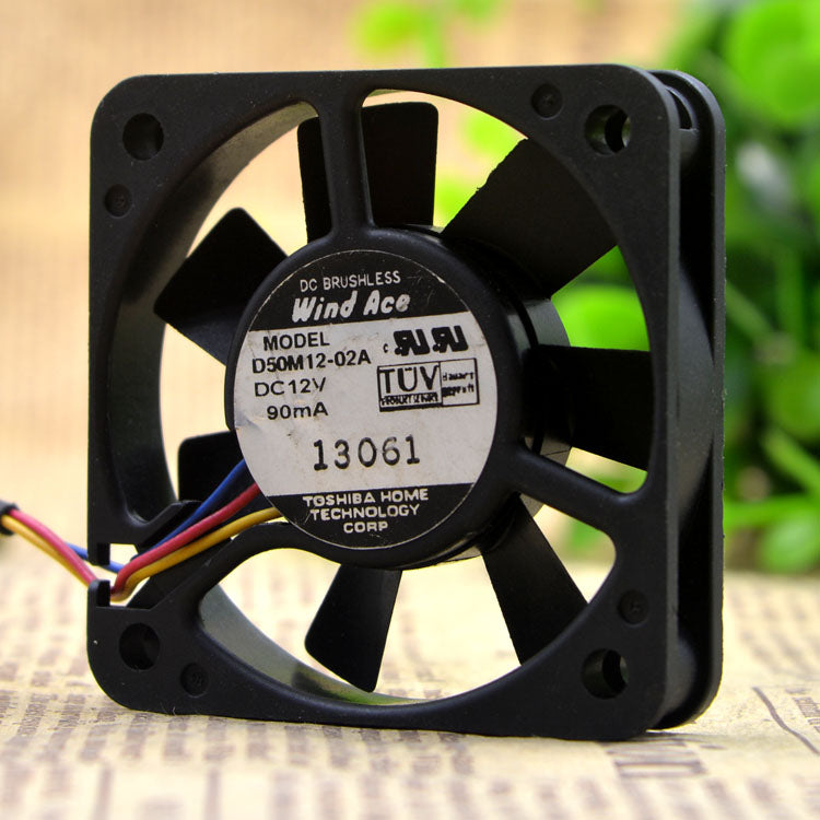 For WIND ACE D50M12-02A 5CM 5010 12V 0.09A three-wire double ball cooling fan - ebowsos