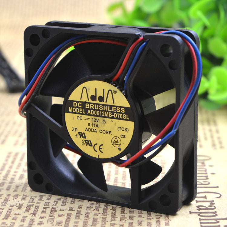 For ADDA 6015 6CM 12V 0.11A 6cm CPU Power Cooling Fan AD0612MB-D76GL - ebowsos