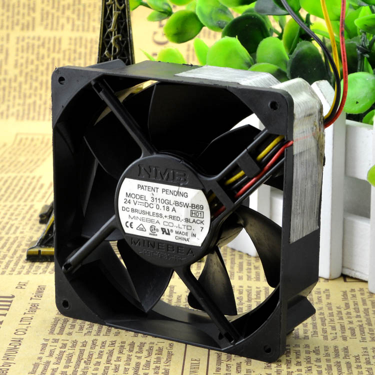 For NMB 8cm inverter fan 8025 24V 0.18A 3110GL-B5W-B69 double ball - ebowsos