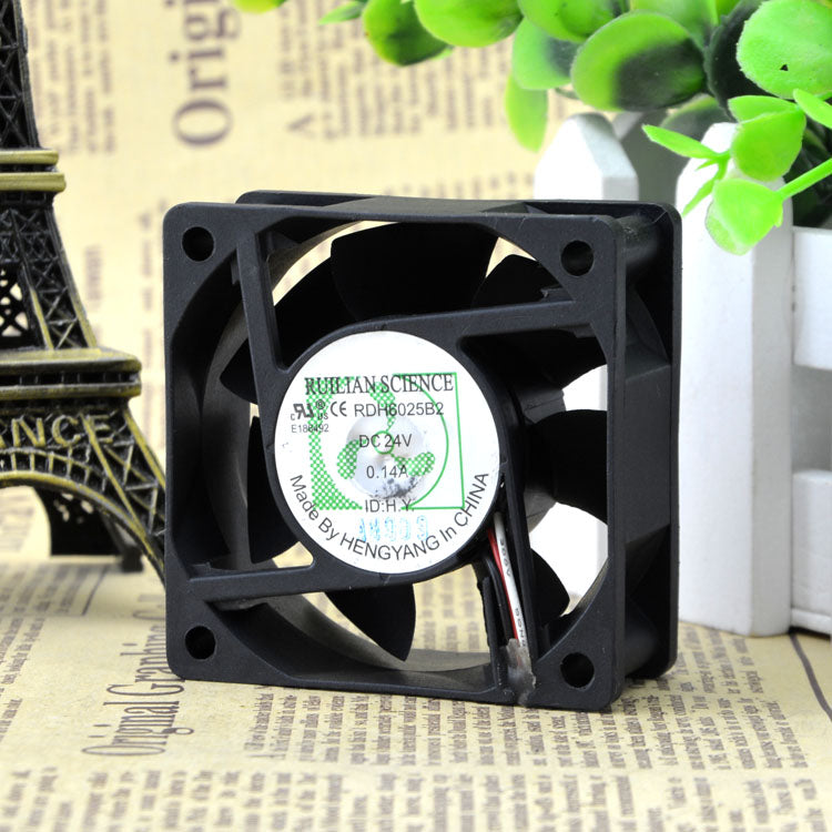 For original RUILIAN SCIENCE 6025 RDH6025B2 24V 0.14A inverter cooling fan - ebowsos