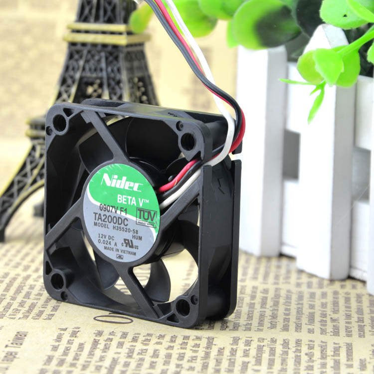 For NIDEC TA200DC H35520-58 12V 0.024A 5CM 5015 3-wire ultra-quiet fan - ebowsos