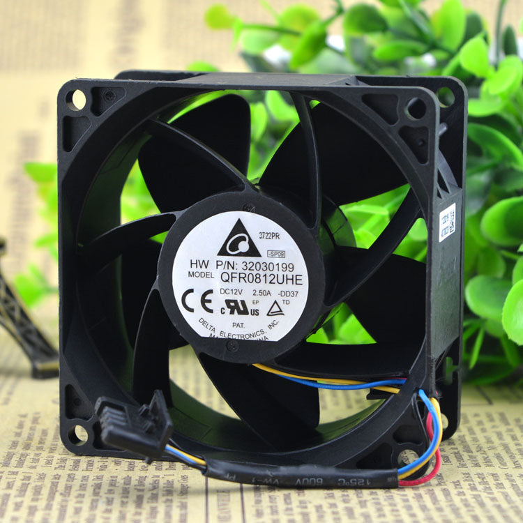 For Delta 8038 8CM12V2.5A 3 wire / 4 wire Ultra high speed industrial car modified supercharged violent fan - ebowsos
