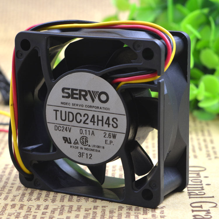 For Japan Servo SERVO TUDC24H4S 24V 2.6W 6CM 6025 Ultra-quiet cooling fan - ebowsos